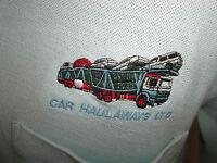 vintage CAR HAULAWAYS LTD Poloshirt Hemd hellblau shirt t-shirt Gr.L