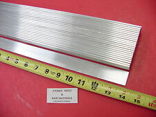 "25 Pieces 1/8"" X 3/4"" ALUMINUM FLAT BAR 14"" long 6061 T6511 New Mill Stock"