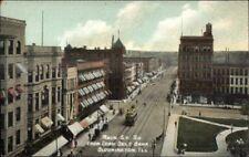 Bloomington IL Main St. From Corn Belt Bank c1910 Postcard
