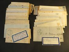 95 New York State Stampless Covers with Roman Numeral V & X Cancels 1845-1853