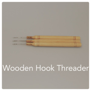 3 x Wooden Hook Needle Threaders for Hair Extensions ~ Phoebes ~