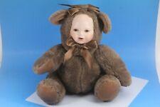 Geppeddo Bear Plush Cuddle Kids Porcelain Face Doll. No box.