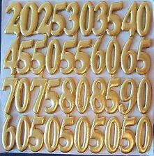Kerzenkunst Wachsplatte Wachsornamente Schrift Jubiläumszahlen gold Jittenmeier