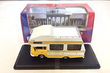 Barkas B1000 1973 Yellow Wohnmobil CAMPER 1:43 IXO IST DIECAST MODEL CAR IST298