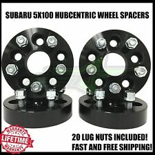 5X100 BLACK HUBCENTRIC WHEEL SPACERS FOR FR-S, BRZ, WRX | 25MM 1 INCH 12X1.25