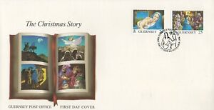 GUERNSEY THE CHRISTMAS STORY 1996 FIRST DAY COVER FDC - NO ADDRESS
