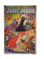 Janis Joplin Poster Her Sitting On Psychedelic Car