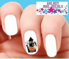 Waterslide Nail Decals - Set of 20 Halloween Haunted House with Ghost & Pumpkin