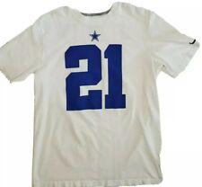 Ezekiel Elliott Dallas Cowboys NFL white Nike Tee Mens Jersey Shirt Large cotton