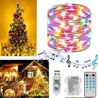 5M LED Strip Light Music USB Remote Control Fairy Lamp Christmas Tree Home Deco