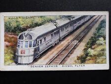 Single: No.34 DENVER ZEPHYR DIESEL FLYER - SPEED - Wills Ltd 1938