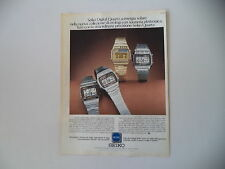 advertising Pubblicità 1979 OROLOGI SEIKO DIGITAL QUARTZ