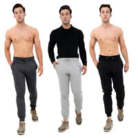 MENS SLIM FIT TRACKSUIT BOTTOMS SKINNY JOGGERS SWEAT PANTS GYM JOGGING TROUSERS