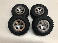 Traxxas 1/10 Slash 2wd Kuhmo Front & Rear Tires w/ Chrome Wheels (4) 5880 5881