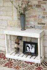 WHITE SLATTED CONSOLE 36''