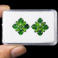 16 Pcs Natural Chrome Diopside 5mm-7mm Vivid Green Premium Quality Gemstones Lot