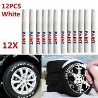 12pcs/set White Waterproof Rubber Permanent Paint Marker Pen Car Tyre Tread