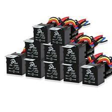 10 Pack 12V 30/40A 5-Pin SPDT Automotive Relay with Interlocking Relay Socket