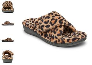 Vionic Relax Leopard Print Natural Terry Slide Slipper Women's sizes 5-12 NEW!!!