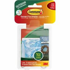 Command Outdoor Medium Clear Window Hooks Value Pack, 5 H W