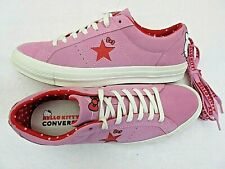 Converse One Star Ox Mens Hello Kitty Prism Pink Red Suede Shoes Size 10 New