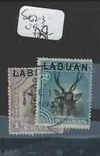 LABUAN (P2207B) 1C MAN, 2C BIRD SG62-3  VFU