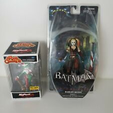 Lot of 2 DC  Batman Arkham City HARLEY QUINN Series 1 Figure Rock Candy