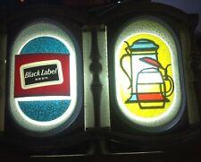 Vtg Carling Black Label Beer Cash Register Light sign Fluorescent 1960s No Clock