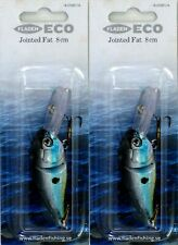 2 Plug Lures Crankbaits Jointed Fat 8cm Fladen 14g Floating Rattler Boxed