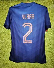 2014 2015 World Cup Netherlands #2 Vlaar Football Away Kit Shirt Jersey Holland