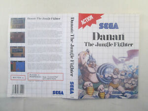 Sega Master System - Danan The Jungle Fighter - Inlay Only