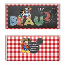 Mickey Mouse Farm Chalkboard Chocolate Wrappers Printable Digital -Print At Home