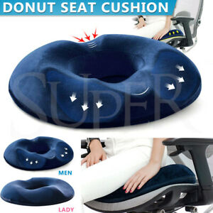 Donut Ring Memory Foam Seat Cushion Men Women Bolster Relief Coccyx Pain Care
