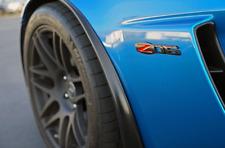 Chevrolet C6 Corvette Gloss Black Z06 Emblem 1 Badge Gloss Black Chevy Authentic