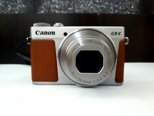 Canon Powershot G9X Mark II Compact Digital Camera in Silver and Tan