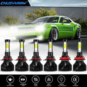 For Dodge Challenger 9005+9006+H11 LED Headlight Hi/Low Beam Bulb Fog Light Kit