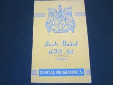 1952-53 DIV 2 LEEDS UITED v  NOTTINGHAM FOREST ( ABANDONED )
