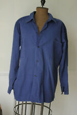 Vintage Work wear shirt men's workwear button up blue 1930's chore blouse