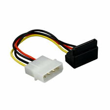 "6In 5.25"" Molex to 90 Degree SATA Power Cable Cord Connector Internal for PC HDD"