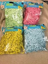 24 PACKS 50grams SHREDED PAPER VARIOUS COLOURS WEDDING CRAFTS RESELL WHOLESALE