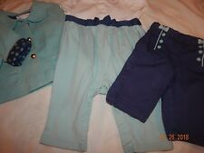 (3) Pc Janie & Jack HTF Girls 0-6 Months CLASSIC IN BOWS Jacket Outfit Pants DAR