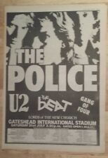 Police U2 beat gang of four 1982 press advert Full page 27 x 38 cm mini poster