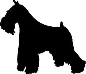 Wand-Aufkleber- Schnauzer, Hund 30 cm x 25,8 cm diverse Farben zur Wahl - Art810