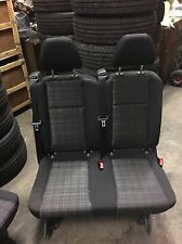 2016+ MERCEDES METRIS BLACK CLOTH VAN 2ND ROW 2 PERSON REAR BENCH SEAT