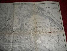Lyon antique map Bradshaws continental railway guide 1907