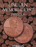 Coin Folder - Lincoln Memorial Cent 1999 - 2008 Penny Set - Harris 2705 Pennies