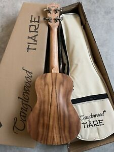 Concert Electro Acoustic ukulele Superb £139 Spruce Top KOA Arched back + GigBag