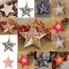 Décorations de sapin de Noël etoiles multicolore