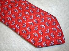 vineyard vines Red Lobster Roll Pattern 100% Silk Tie NWT $85 Made in USA
