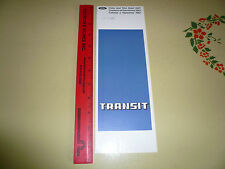1967 English Ford Transit Van Color & Trim Chart - W4454 -